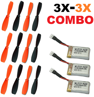 Picture of Battery Propeller Combo 3x-3x