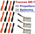 Picture of Traxxas QR-1 Battery Propeller 3.7v 240mAh 25c LiPo RC Combo