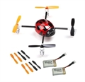 Picture of QR Ladybird V2 BNF Extra 2 x Battery 2 x Propellers RED Walkera