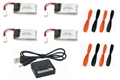 Picture of Hubsan X4 H107 Battery Propeller Blade Charger COMBO 4x 350mAh 2x Props