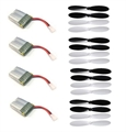 Picture of Traxxas QR-1 Battery Propeller Blades COMBO 4 x 3.7v 240mAh Parts