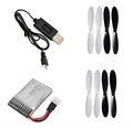Picture of Hubsan X4 3.7v 240mAh 25c LiPo Battery Charger & Propeller COMBO RC