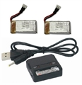 Picture of Estes Dart Battery & Dual USB Li-Po Charger UPGRADE Batteries Set RC QuadCopter