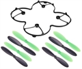 Picture of Traxxas QR-1 QuadCopter Propeller Protection Cover Rotor Blades Props Combo Green & Black