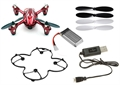 Picture of Hubsan X4 H107C Camera Quadcopter BNF with Extras (Red with Silver stripes)