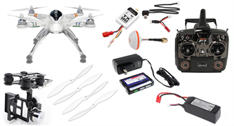 Picture of Walkera QR X350 PRO RTF GoPro Drone w/ G-2D Gimbal & Devo F7 LCD Transmitter - FPV TX5803 but *No Camera*