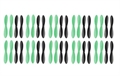 Picture of 10 x Quantity of HobbyWinner Spyder X Propeller Blades Props Rotor Set Main Blades Black and Green