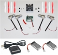 Picture of Walkera Devo Compatible V2 BNF White & Red 32MPH Mini Quadcopter EASY BUILD Kit 2.4Ghz Easy to Fly, Upgrade, Repair! Flips & Rolls (No Canopy) 5 Channels