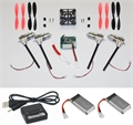Picture of Walkera Devo Compatible V2 BNF Black & Red 32MPH Mini Quadcopter EASY BUILD Kit 2.4Ghz Easy to Fly, Upgrade, Repair! Flips & Rolls (No Canopy) 5 Channels