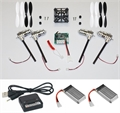 Picture of Walkera Devo Compatible V2 BNF Black & White 32MPH Mini Quadcopter EASY BUILD Kit 2.4Ghz Easy to Fly, Upgrade, Repair! Flips & Rolls (No Canopy) 5 Channels