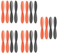 Picture of Ribeisi Toys GWT-X5C Star Aircraft Black Orange Propeller Blades Props 5x Propellers