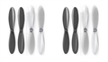 Picture of 2 x Quantity of Estes Dart Black Clear Propeller Blades Props Propellers Transparent