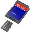Picture of Motorola RIZR 4GB MicroSDHC Memory Card with SD Adapter 4GB MicroSDHC Class 4